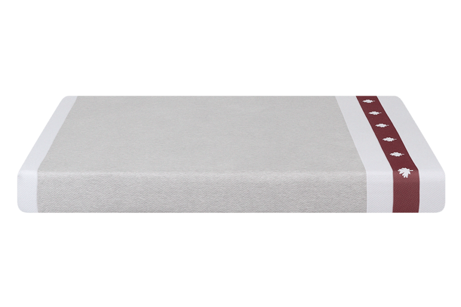Image of the side of the Juno mattress at a raised angle.